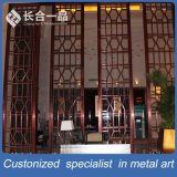 Diviseur de salle moderne en acier inoxydable sur mesure Dubai Style