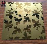 Hairline Satijn die van uitstekende kwaliteit van de Plaat van de Kleur van het Roestvrij staal het Decoratieve Spiegel Finshed zandstralen