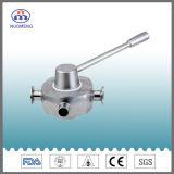 Válvula de enchufe higiénica sanitaria del acero inoxidable