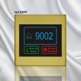 プラスチック輪郭フレーム(SKdB2300SYS R)の部屋番号を用いるホテルのドアベルシステム接触パネル