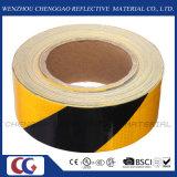 黒く及び黄色の縞の反射危険の自己接着テープ(C3500-S)