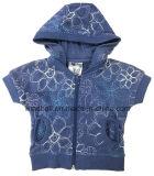 Maglietta alla moda per la neonata con ricamo All-Over
