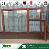 UPVC/PVC 나무로 되는 색깔 건물을%s 이중 유리를 끼우는 경사와 회전 Windows