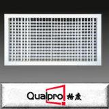 grade dobro de alumínio amplamente utilizada da deflexão do registo de ar da ventilação da grade de ar da fonte