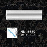 天井の装飾Hn8530のための明白なクラウンモールディングPUのコーニスのパネル