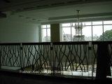 Corrimano di alluminio di lusso interno della scala della scala a spirale