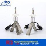 Kit caldo della lampadina del faro di vendita 8-48V 40W 4000lm H4 R3 LED, faro dell'automobile H4, faro dell'automobile H4