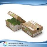Gewölbtes Papier-kleidet flacher faltender Verpackungs-Kleid-Schuh Kasten (xc-APS-007A)