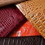 Populäre Serie Krokodil-Leder-synthetische Leder-für Beutel (HST309)