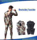 Desgaste total da nadada do Wetsuit de Freediving Trathlon camuflar do neopreno do homem