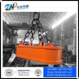 狭スペース60%使用率から荷を下す鋼鉄スクラップのための楕円形の形の電磁石の揚げべら