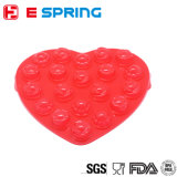 Muffa all'ingrosso del Lollipop della torta del silicone del cuore con il bastone