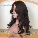 Parrucca del merletto legata mano completa della frangia della parte superiore della pelle dei capelli umani