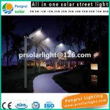La lámpara LED del jardín de la energía solar a distancia de alimentación del sensor de movimiento al aire libre