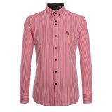 Chemises 2017 estampées par robe de mode d'hommes de chemises de coton d'usine