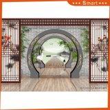 Peinture à l'huile imprimée à jet d'encre chinoise à la porte classique chinoise pour décoration intérieure