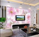 Aduana cualquie papel pintado elegante de la flor de la foto del papel de empapelar del sofá TV de la talla