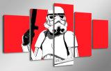 HD imprimió la lona roja Mc-140 del cuadro del cartel de la impresión de la decoración del taller de impresión de la lona de pintura del Stormtrooper
