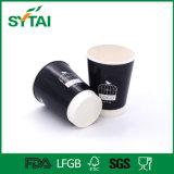 Taza de café doble disponible impresa insignia de encargo al por mayor del papel de empapelar