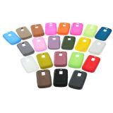 Couverture colorée de caisse de peau de silicone pour Blackberry 9000