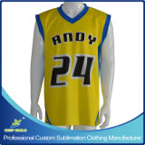 Camisola feito-à-medida de Sublimation Basketball para Basketball Game Teams