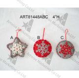 """"""" ornamento del fiocco di neve di H 4 con Handstitchings-3asst. - Decorazione di natale"""