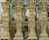 عمود زخرفيّة روحانيّة مع حجارة رخام حجر رمليّ صوّان ([قكم136])