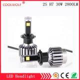 경쟁가격을%s 가진 공장 직매 2s H7 30W 2800lm LED 차 LED 헤드라이트 전구 Headlamp