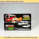 Plástico do cartão da bicicleta do cartão do táxi com a assinatura para uma comunicação