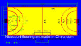 Plancher modulaire suspendu pour le jeu de handball, tuile de cour de handball