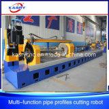 Máquina que hace frente del corte del CNC del plasma del gas para los tubos Shaped redondos