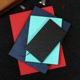Cuaderno de cuero de encargo de la PU del atascamiento flexible del papel de la oficina y de la escuela