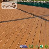 Suelo de madera dirigido compuesto de madera al aire libre del grano WPC