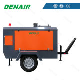 La mejor remolque móvil de motor diesel detrás del compresor de aire para el sector de la construcción