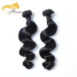 Extensões malaias do cabelo humano do Virgin do preço de fábrica 100 do OEM