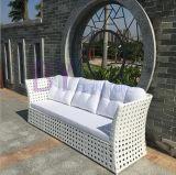 Софа комбинации ротанга PE отдыха самомоднейшего белого напольного сада крытая