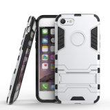 TPU +PC 기갑 권총휴대 주머니 Kickstand iPhone 7/7plus를 위한 결합 전화 상자