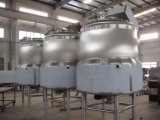 Los tanques de mezcla del SUS con los mezcladores y la chaqueta del aislante