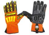 働く影響の安全手袋
