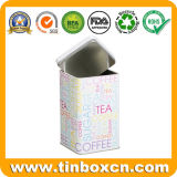 معدن طويلة مربّعة سدودة قصدير عليبة لأنّ سكر قهوة شاي