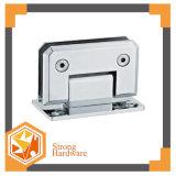 Braçadeira padrão do vidro do banheiro do quadrado 90degree do aço inoxidável