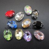 모조 보석 공장 모조 다이아몬드 클로는 모조 다이아몬드 (SW Navette 10*14mm)에 꿰맨다