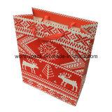 Bolsa de papel laminada brillante del regalo del paquete de las compras del papel de arte