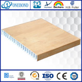 Panel de madera del grano de aluminio de nido de abeja