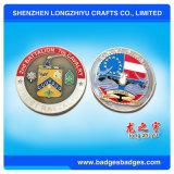 Moneta massonica personalizzata moneta alla moda del ricordo dello smalto di colore con la casella di legno