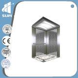 Ascenseur de luxe approuvé de passager de cabine de la décoration solides solubles de la CE