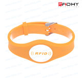 Wristband enchido cor do silicone dos Wristbands Ntag213 para arenas
