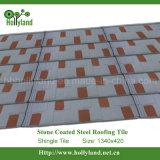 Saltar el azulejo de material para techos del metal del color con la piedra cubierta (el tipo de la ripia)