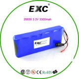 Блок батарей Exc26650 3.3V 3300mAh LiFePO4 Cell 2s3p 6.6V 9900mAh
