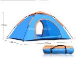 1-2人の単層の自動キャンプテント